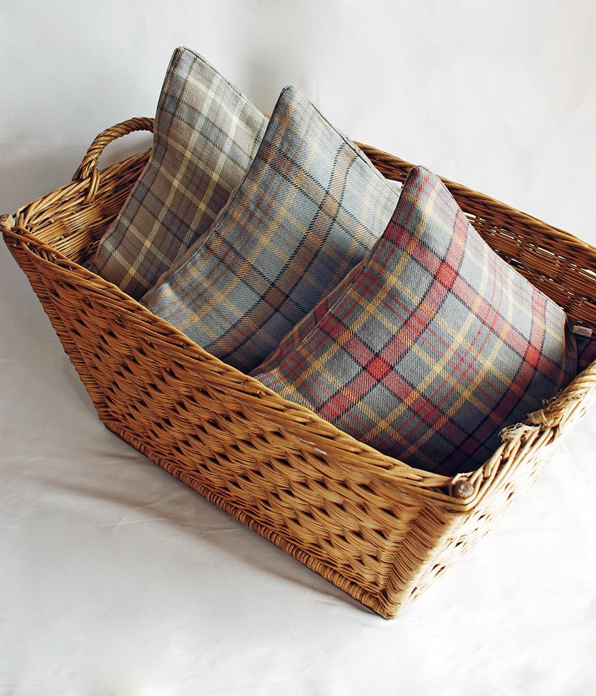 Linen Cushion Cover 【Plaid Check】 / リネンクッションカバー【プレイドチェック】