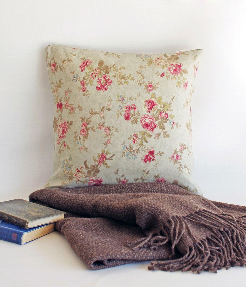 Cushion Cover 【Antique Rose】 / クッションカバー【アンティークローズ】