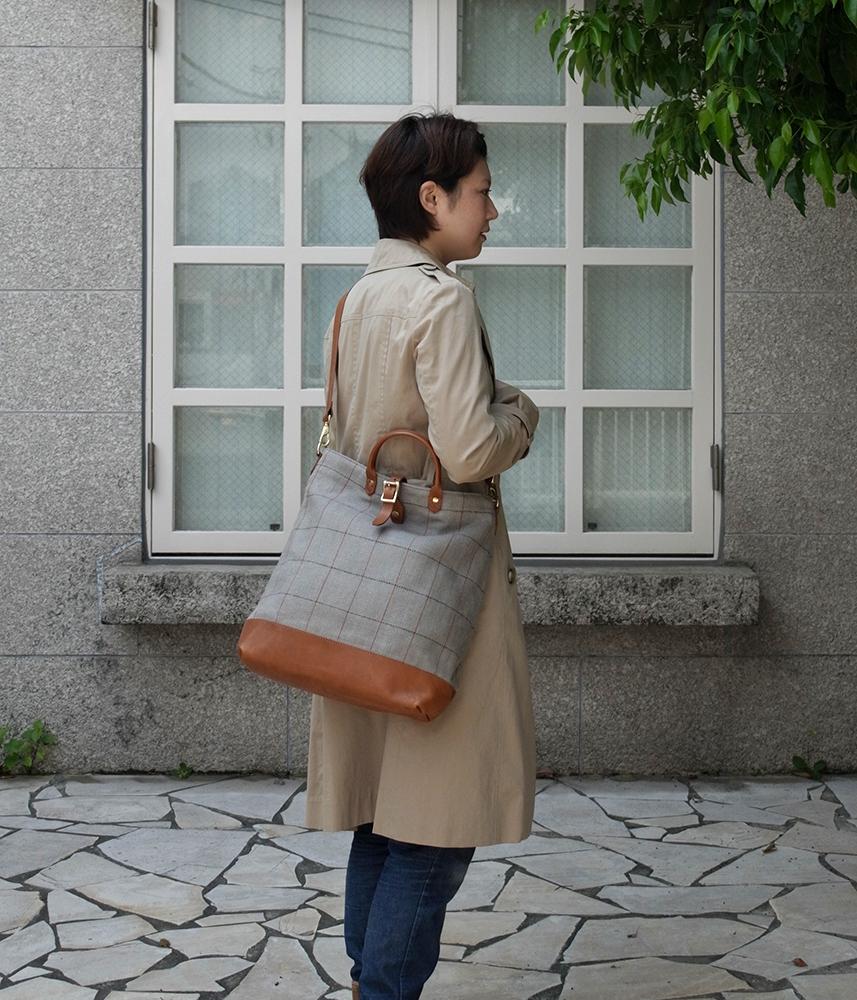 Linen First Bag【Glay】 / リネンファーストバッグ【グレー】