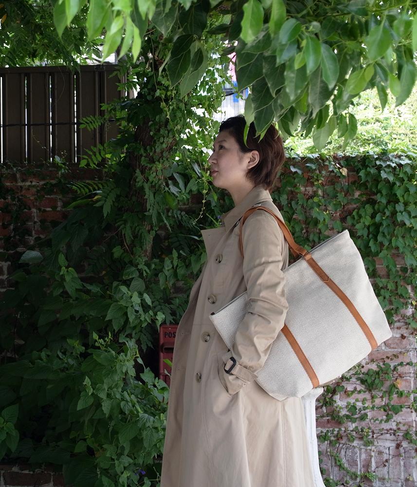 Broad Tote Bag 【Natural】 / ブロードトートバッグ【ナチュラル】