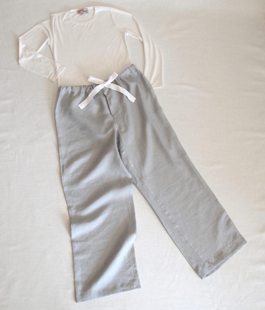Room Pants Long【Blue Gray】 / ルームパンツロング【ブルーグレー】