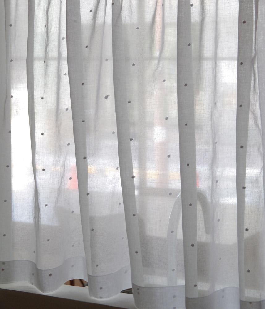 Cafe Curtain【Muslin White Drop】 / カフェカーテン【モスリン ホワイトドロップ】