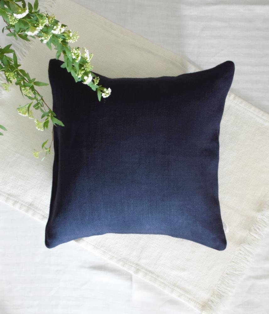 Linen Cushion Cover 【Navy】 / リネンクッションカバー【ネイビー】