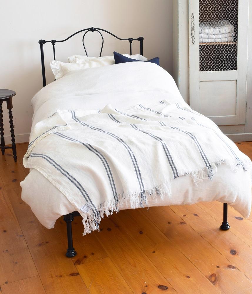 Linen Blanket【Marine1】 / リネンブランケット【マリン1】