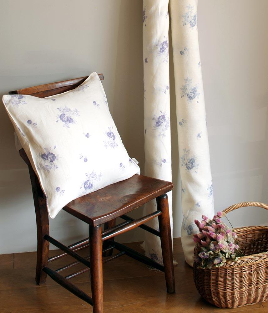 Linen Fabric【Shabbychic Rose Plum】 / リネンファブリック【シャビーシックプラム】