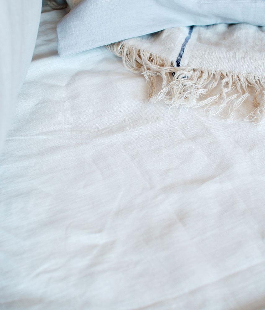 Linen Fit Sheet【White】 / リネンフィットシーツ シングル・ダブル【ホワイト】