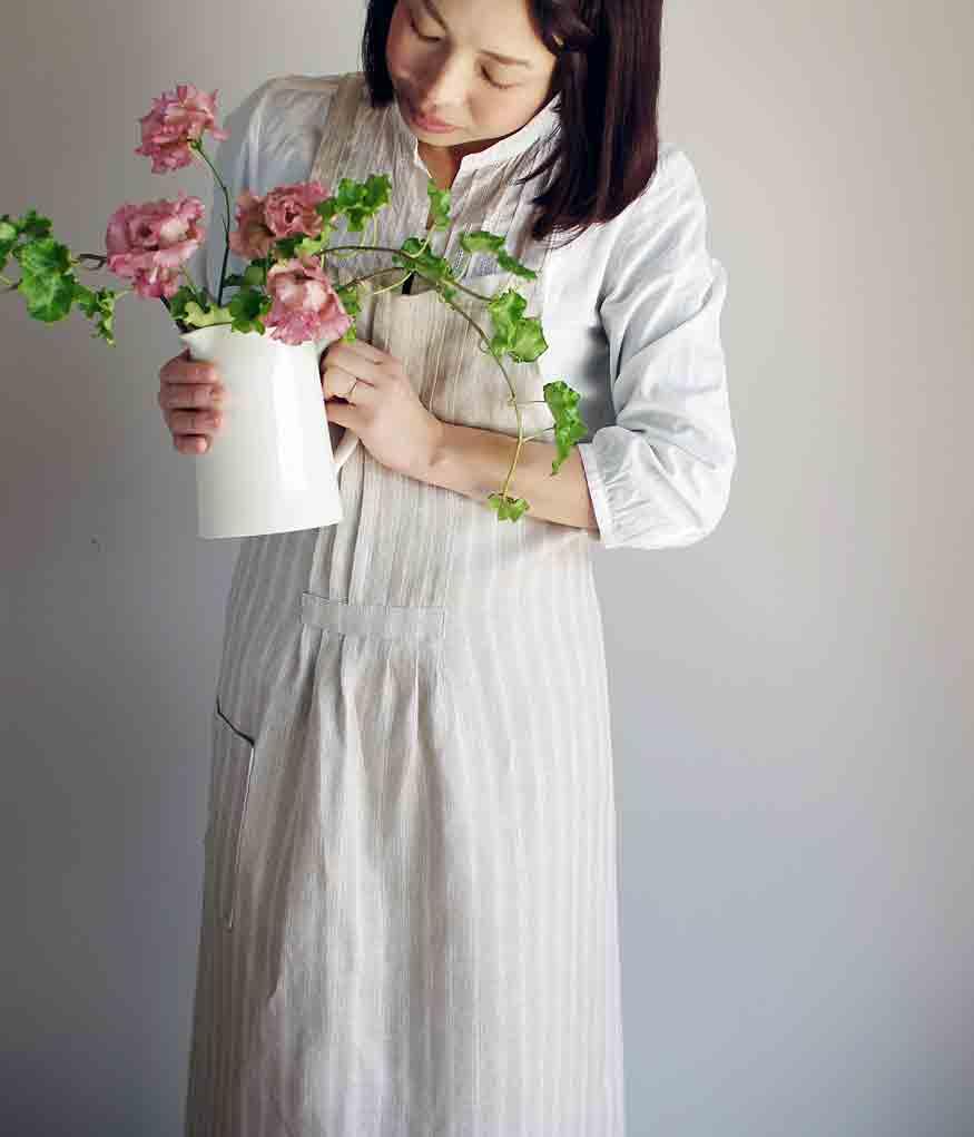 Original Linen Tack Apron / オリジナル リネンタックエプロン【ストライプ】