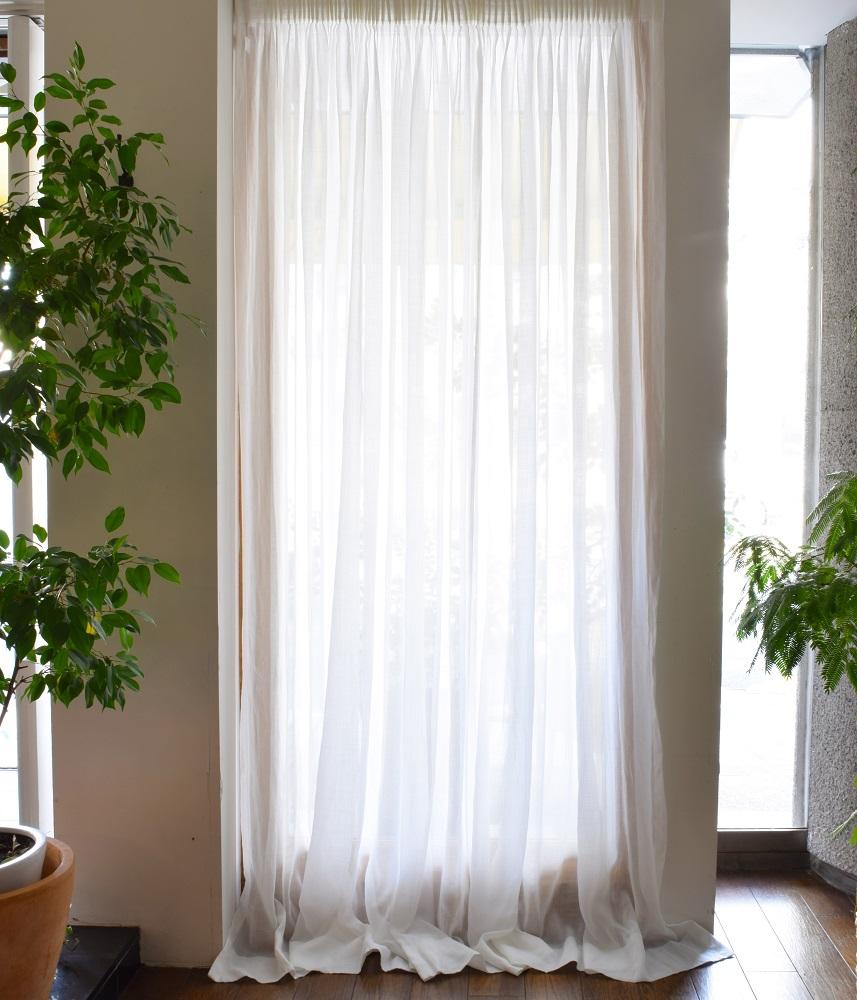 Gather Curtain 【Muslin Snowdot】 / ギャザーカーテン【モスリンスノードット】