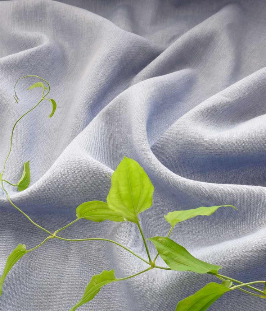 Linen Fabric 【Lina Chambray Blue】 / リネンファブリック【リナ シャンブレイブルー】