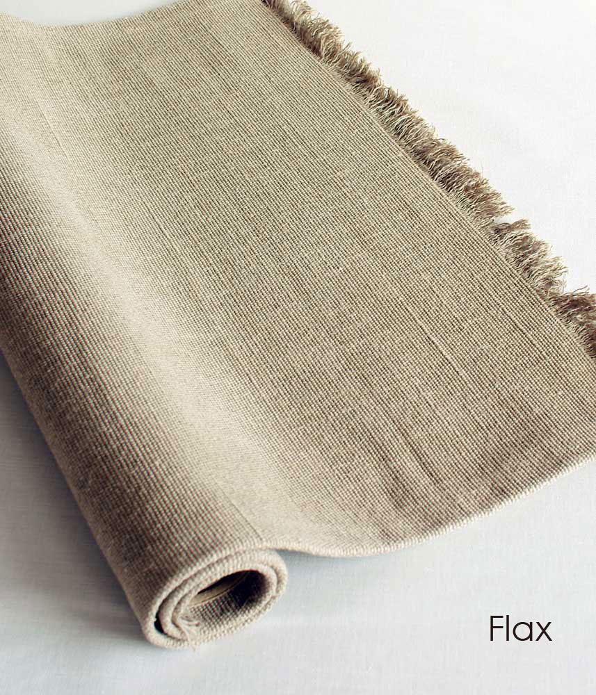 LIBECO Plain Linen Rug (S) / リベコ リネン ラグマット 【Sサイズ】