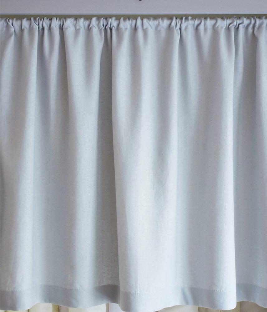 Cafe Curtain 【Lina Blue Grey】 / カフェカーテン【リナブルーグレイ】