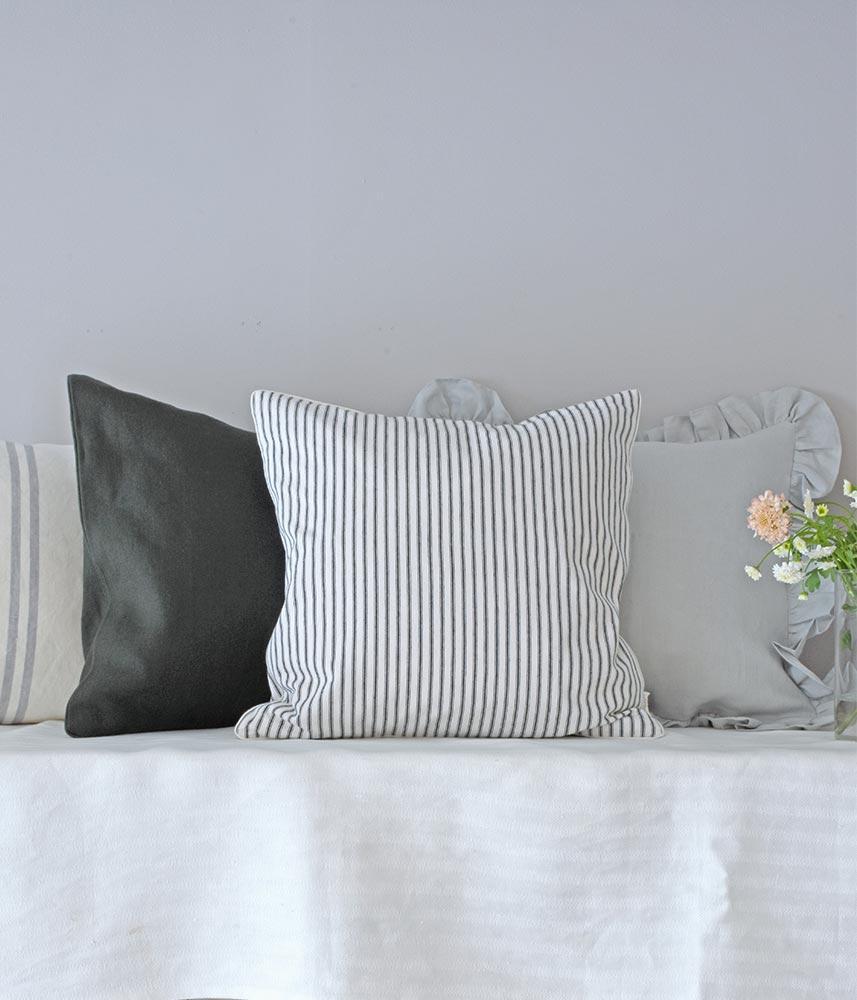 Cotton Cushion Cover【English Ticking】 / コットンクッションカバー【イングリッシュティッキング】