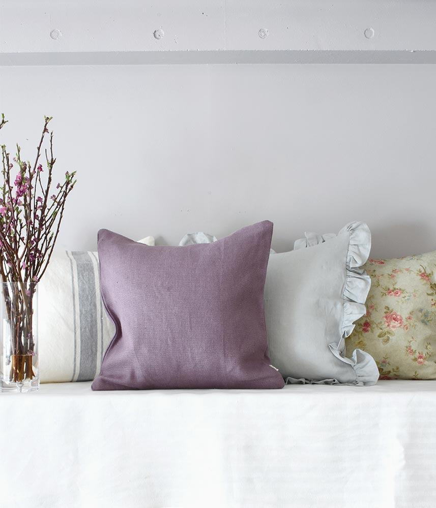 Linen Cushion Cover【Old Fig】 / リネンクッションカバー【オールドフィグ】