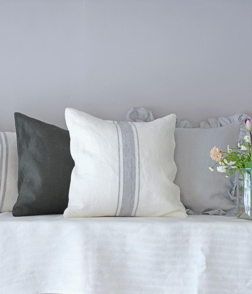 Linen Cushion Cover【Marine 7】 / リネンクッションカバー【リナマリン7】