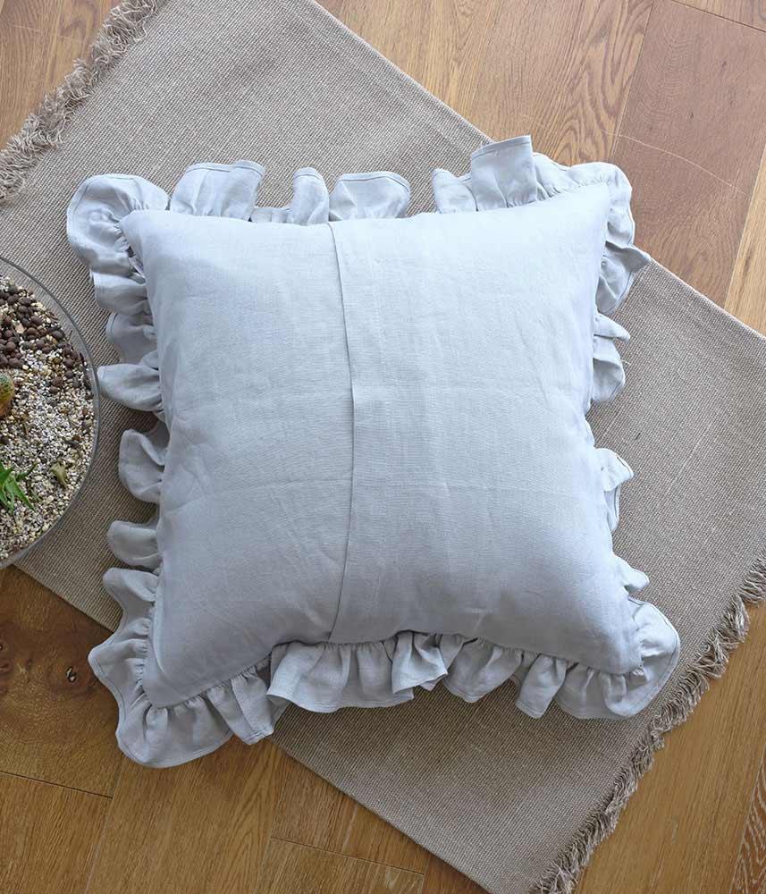Frill Cushion Cover 【Blue Grey】 / フリルクッションカバー【ブルーグレー】