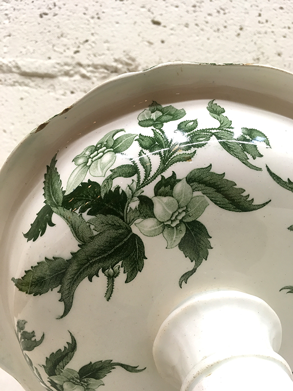 KG191c Antique Pottery compote / KG191c アンティークポタリーコンポート