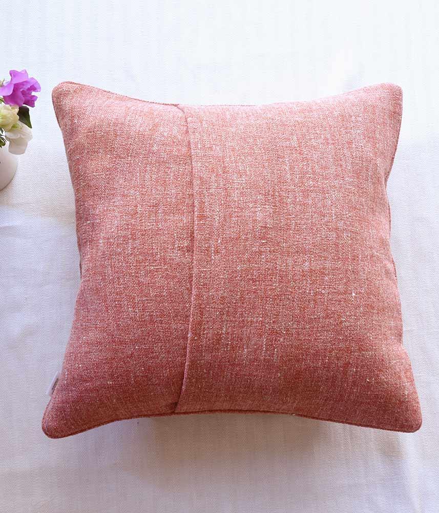 Linen Cushion Cover【Tweed Rad】 / リネンクッションカバー【ツイードレッド】